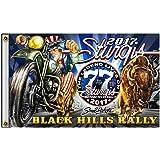 2018 Sturgis Motorcycle Rally #1 Design Skeleton Chief 3/' x 5/' Flag