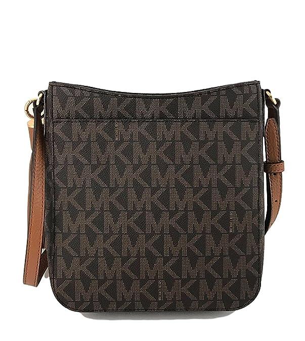 9592652f3 Michael Kors Bedford Signature PVC Tassel Crossbody Bag in Brown Acorn:  Amazon.in: Shoes & Handbags