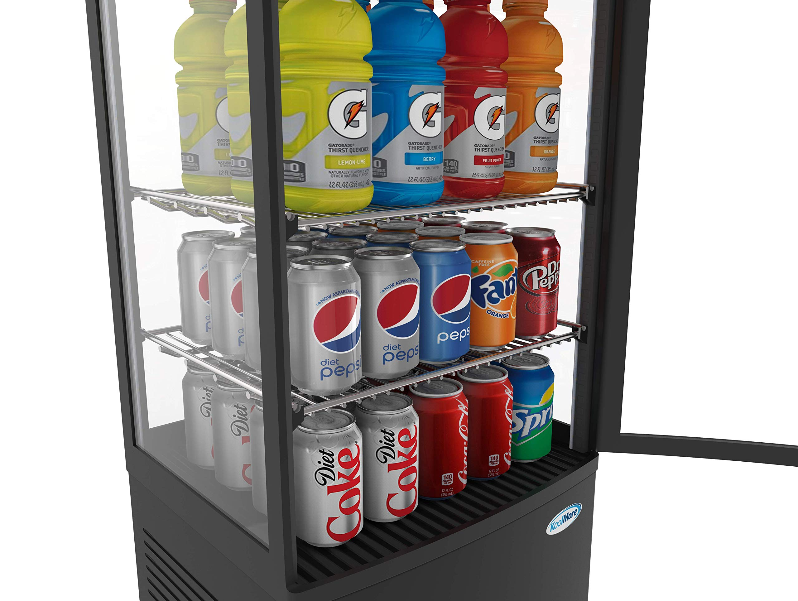 KoolMore Countertop Refrigerator Display Case Commercial Beverage Cooler with LED Lighting - 3 cu. ft Capacity by KoolMore (Image #8)
