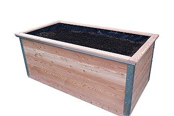 Bio Garten Hochbeet Aus Larchenholz Komplett Paket 100 X 200 Cm