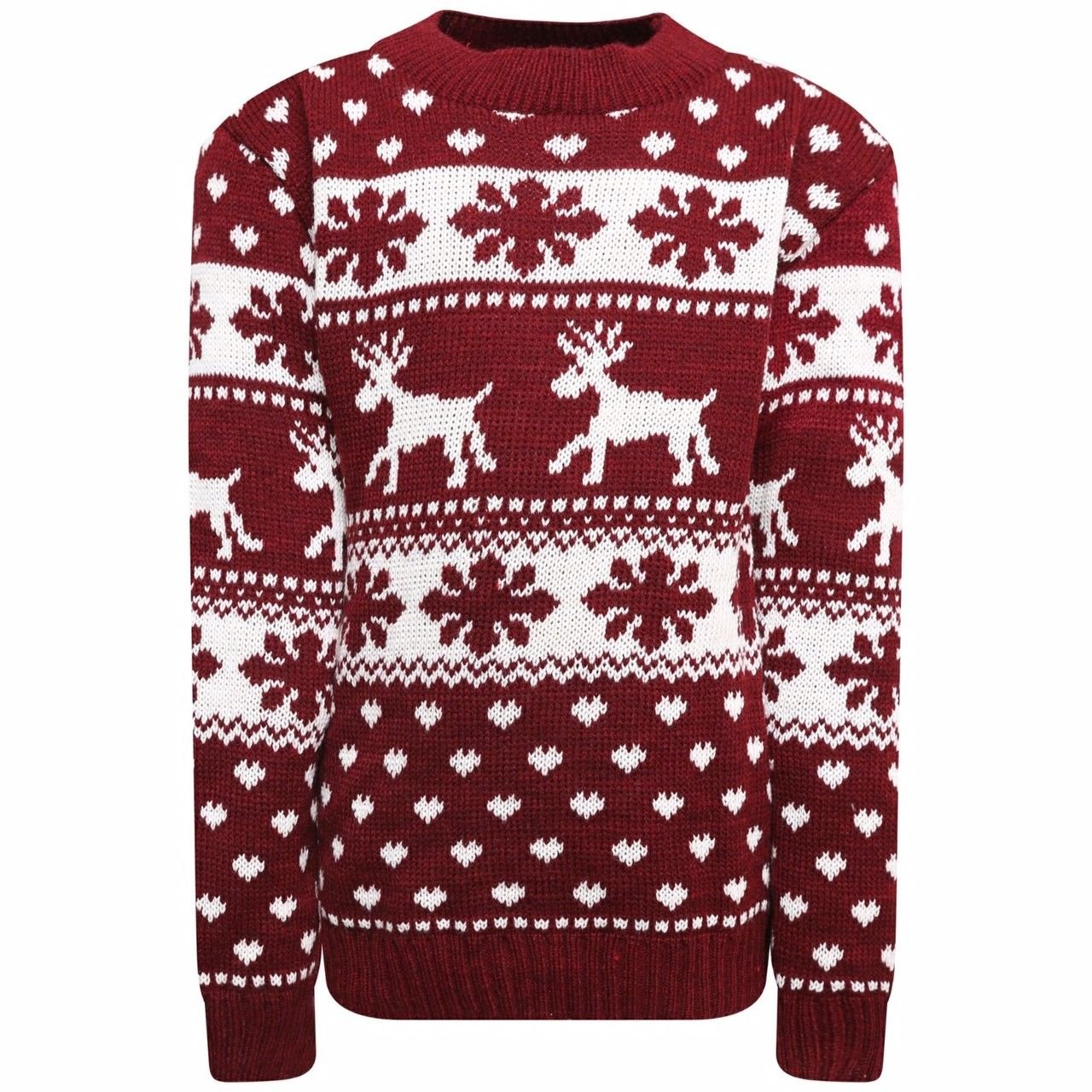 Kids Boys Girls Childerens Knitted Retro Novelty Christmas Xmas Jumper 3-13 Years