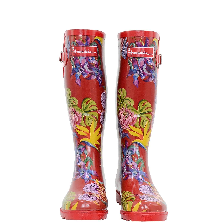 Anna by Anuschka Anuschka Women's Printed and Adjustable Rain Boot, Floral Paradise B079Z7MPZV 8 B(M) US Island Escape