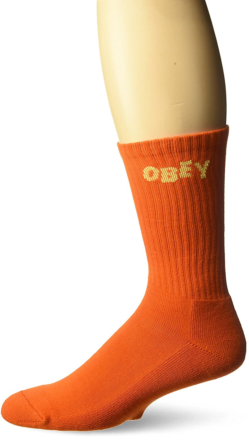Obey Men's Jumbled Athletic Socks Orange/Yellow O/S 100260089