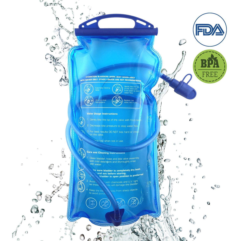 Hydration Bladder, 3L Water Bladder BPA Free, 3 liter Large Opening Water Reservoir, Leak Proof Military Insulated Water Storage Bladder Bag for Cycling Hiking Camping Biking Running Climbing Walking