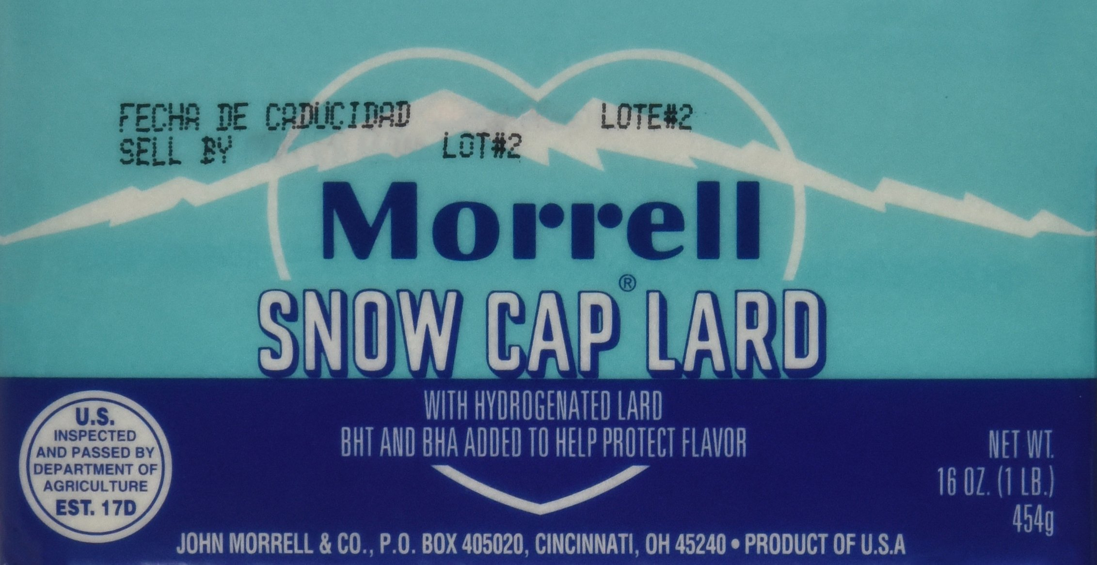 Snow Cap Lard - 16oz. each (Quantity of 6)