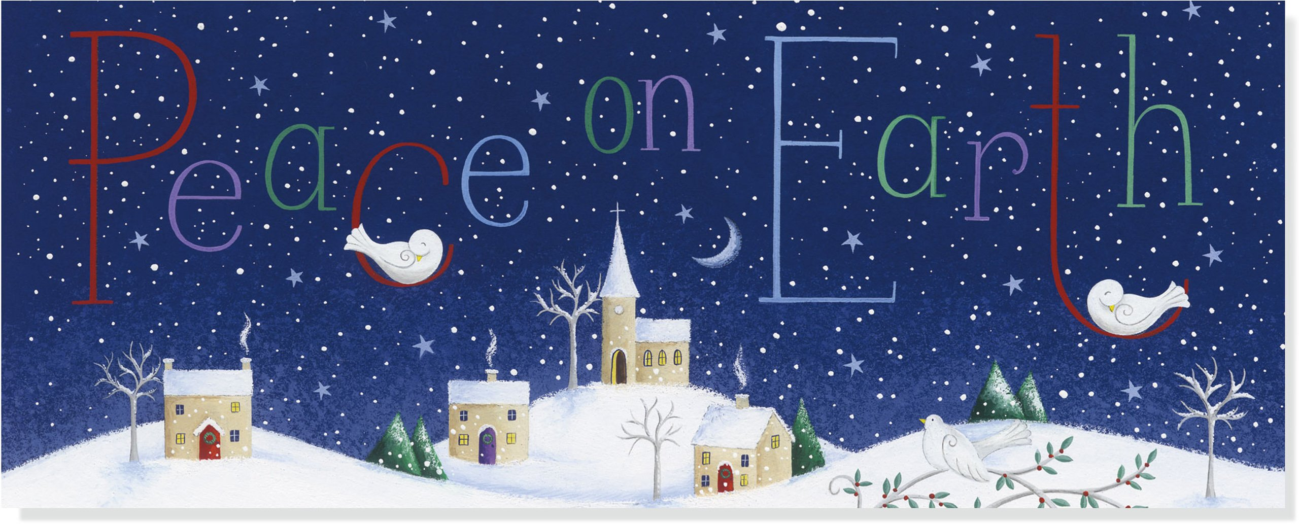 Peace On Earth Panoramic Boxed Holiday Cards Christmas Cards