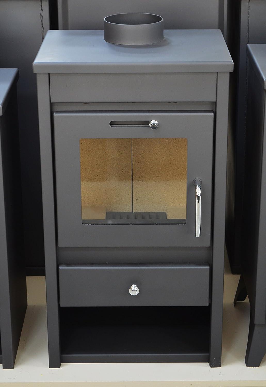 Estufa de leña chimenea moderna Log quemador estufa para madera, parte superior - 9 kW: Amazon.es: Bricolaje y herramientas
