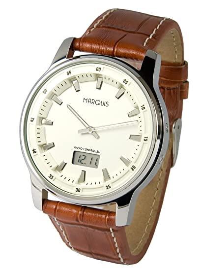 Elegante reloj para hombre Marqués, tecnología de radiofrecuencia alemana, reloj 983.4116: Amazon.es: Relojes