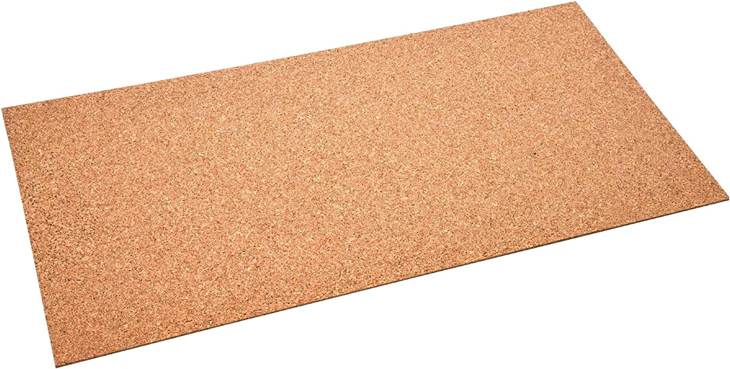 acerto 30022 High-Quality Cork Board 50 x 100 cm 5 mm Antistatic Elastic Free of Harmful substances Suitable as pinboard Craft Underlay for Model Making /& World map Cork Board for Hanging