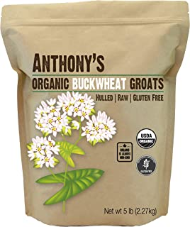 product image for Anthony's Organic Hulled Buckwheat Groats, 5 lb, Raw, Grown in USA, Gluten Free