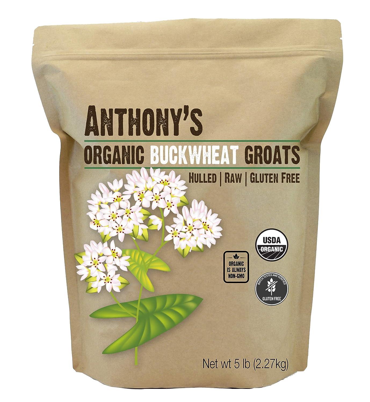 Anthony's Organic Hulled Buckwheat Groats, 5 lb, Raw, Grown in USA, Gluten Free