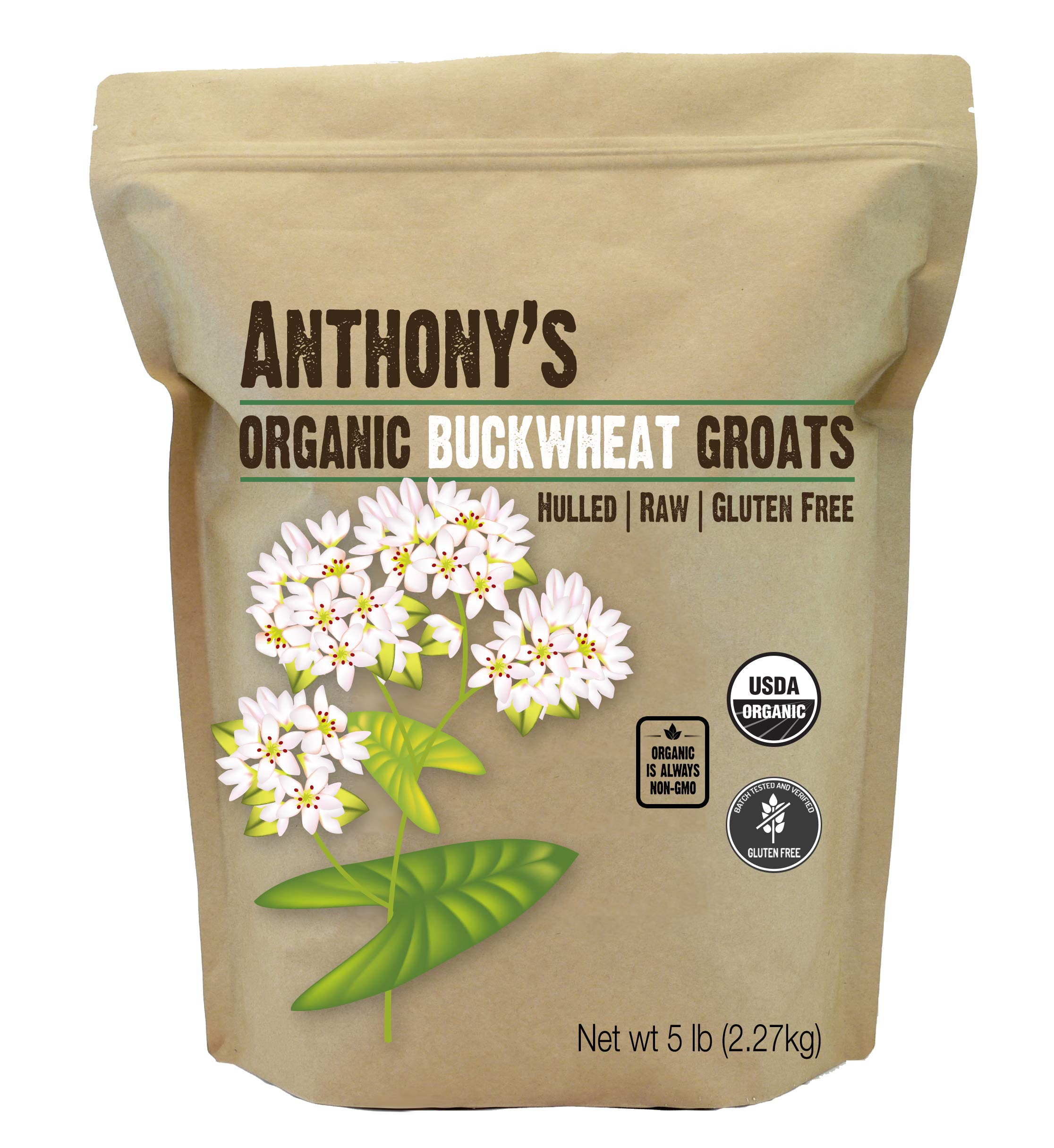 Organic Raw Hulled Buckwheat Groats (5lb) by Anthony's, Grown in USA, Gluten-Free by Anthony's (Image #10)