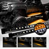 "OPT7 2pc 60"" Side Kick Running Board LED Strips w/SEQUENTIAL Amber Turn Signal, DRL, and white Courtesy Light"