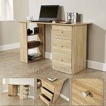 Computer Desk Table Study Desk For Home Office Furniture Oak 3