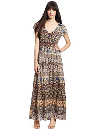 Dept Maxi Jurk.D E P T Women S Romance Structured Maxi Dress Sesame Large At