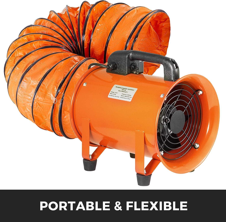 Frantools Lufttransportschlauch Warmluftschlauch PVC L/änge 3 M Durchmesser 700 mm