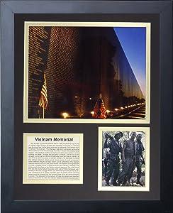"Vietnam Veterans Memorial 11"" x 14"" Framed Photo Collage by Legends Never Die, Inc."