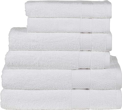 Sweet Needle Daily Use Set asciugamani a 6 pezzi nero 100/% cotone con finiture in rayon 2 asciugamani 50x90 2 grandi asciugamani da bagno grandi 70x140 2 panni di lavaggio 30x30 CM