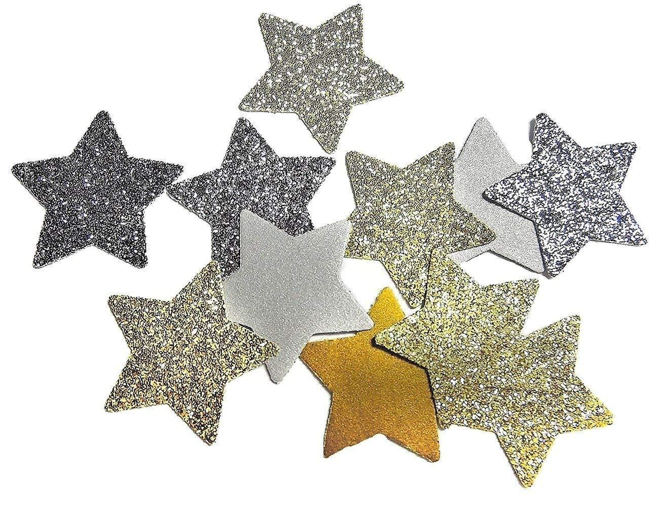 Silber Glitter und Gold Glitter Stern Konfetti fü r Hochzeit Geburtstagsfeier Dekoration