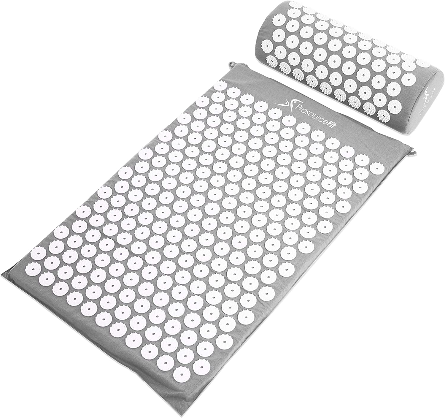 ProsourceFit Acupressure Mat and Pillow Set - Grey: Sports & Outdoors