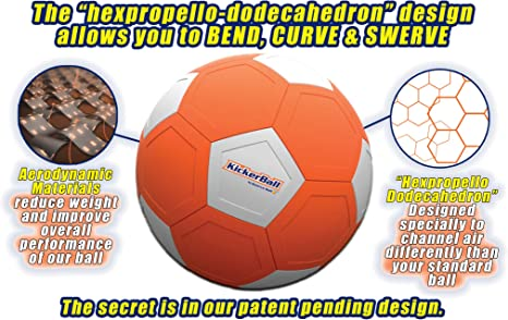 Kickerball - Curve and Swerve Football: Amazon.es: Deportes y aire ...