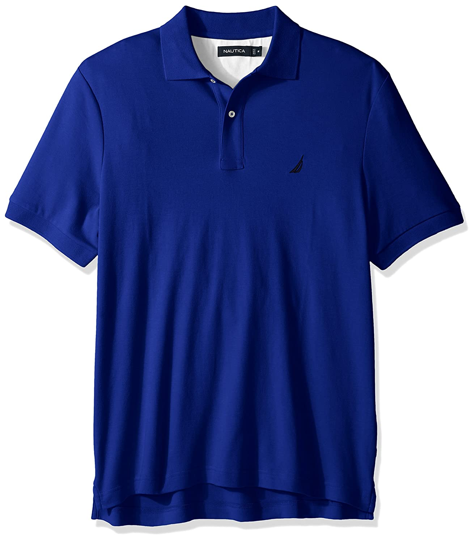 Nautica Men's Classic Fit Short Sleeve Solid Soft Cotton Polo Shirt K61700