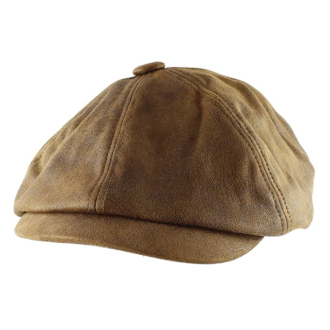 42b5c6673062f Morehats Faux Suede Newsboy Irish Hunting Gatsby Cabbie Hat - Brown ...