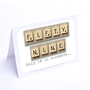 Birthday Cards Scrabble 59th Card Amazoncouk Office Products