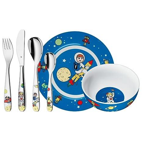 WMF Willy, Mia & Fred Space - Vajilla para niños 6 piezas, incluye plato