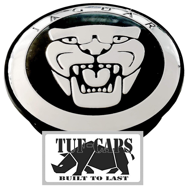 TUFF-CAPS 59MM ALLOY WHEEL CENTRE HUB CAP BLACK to fit JAGUAR - replacement cap
