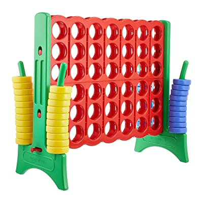 basics Giant 4-In-A-Row Premium Plastic Game Set - 47 x 43 x 22 Inches: Industrial & Scientific