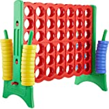 Amazonbasics Giant 4-In-A-Row Premium Plastic Game Set - 47 x 43 x 22 Inches