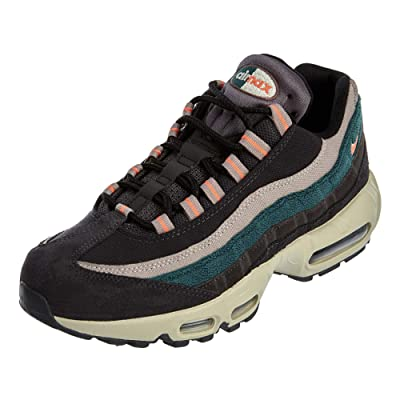 Nike Men's Air Max 95 PRM Oil Grey/Bright Mango/Thunder Grey 538416-018   Fashion Sneakers
