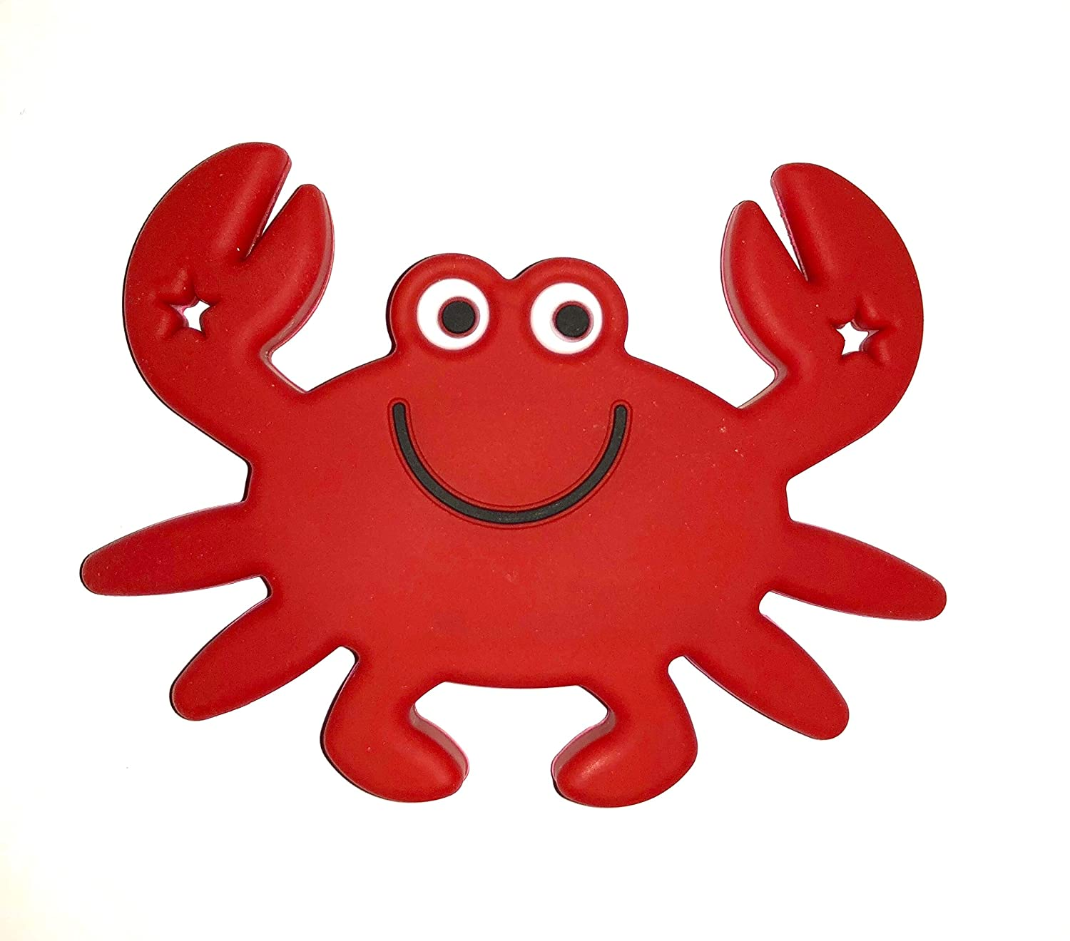 Crabby Teething Toy by Gumbaby for Teething Babies Red Gumeez