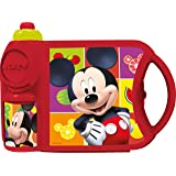 Disney Mickey Plastic Canteen Set, 800ml, Multicolour