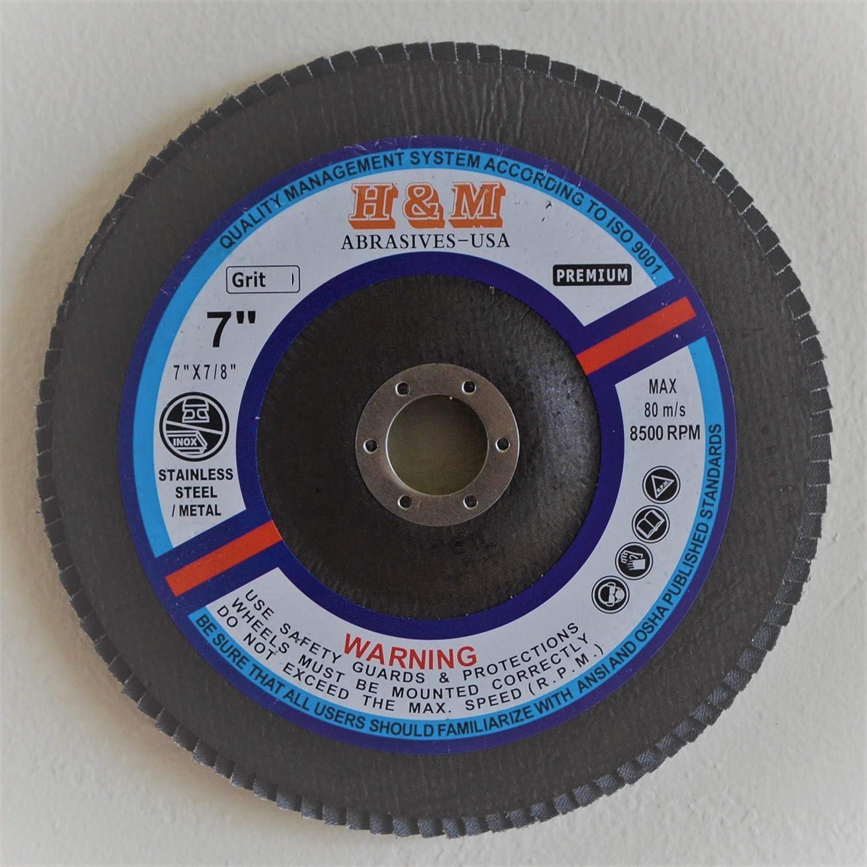 "20pcs FLAP DISC 5 inch x 7//8/"" Zirconia 80 grit Sanding Grinding Wheel Type 27"