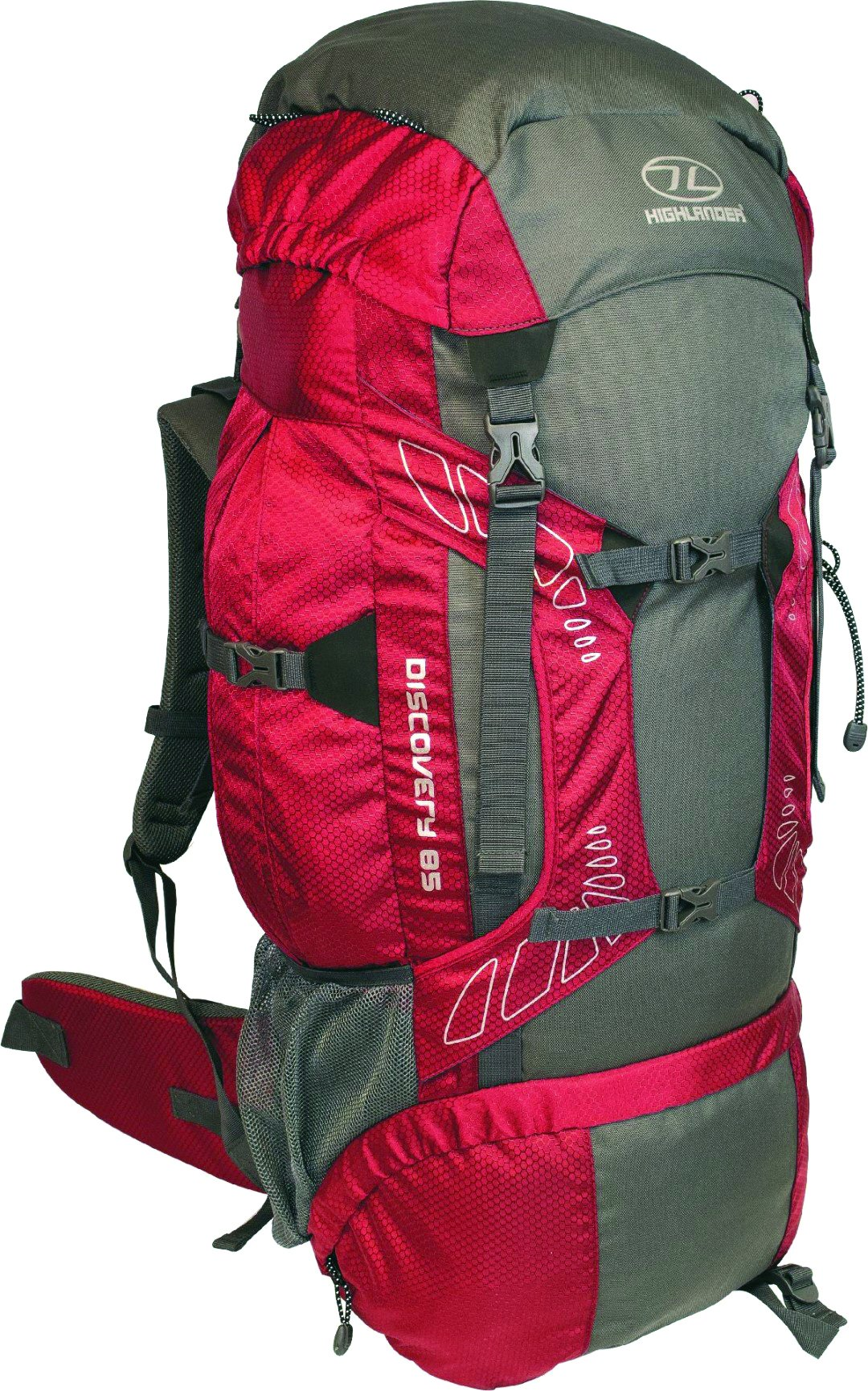 Highlander Outdoor Discovery 85-Liter Rucksack, Red