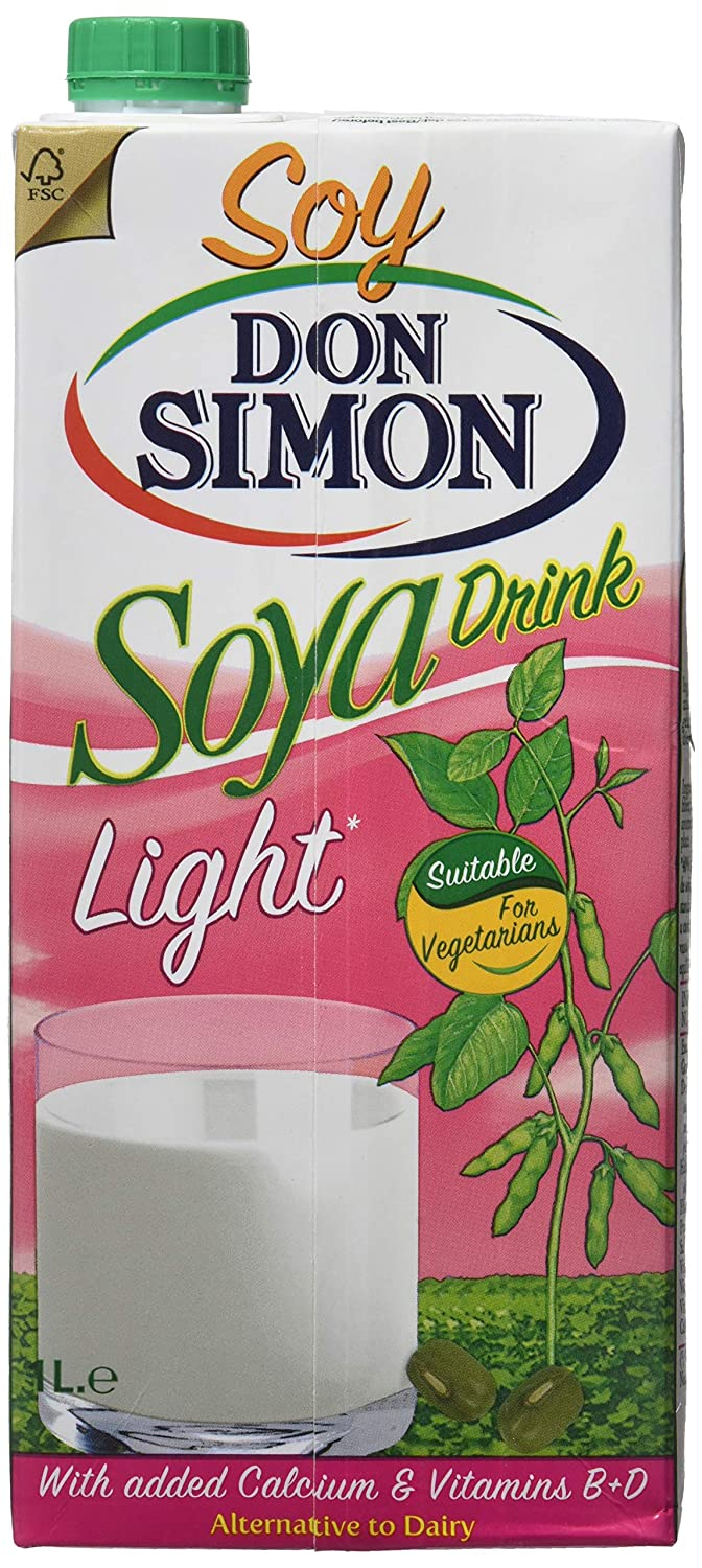 Don Simon Bebida de Soja Light - Paquete de 12 x 1 l - Total: 12 l: Amazon.es: Alimentación y bebidas
