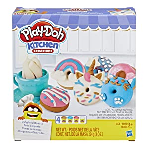 Play-Doh Kitchen Creations Delightful Donuts Set with 4 Colors
