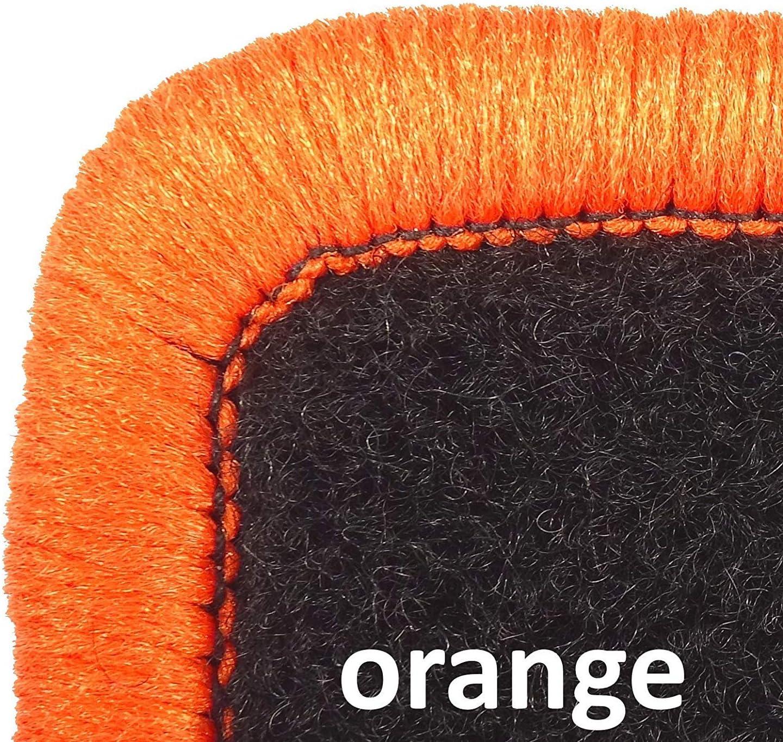 orange, 2 Einstiegsmatten Mertex Automatte Autoteppich Premium anthrazit meliert 34812-P-A