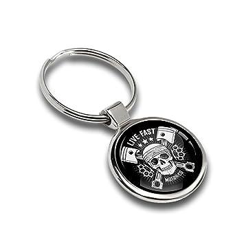 Amazon.com: skino Metal Gel de resina 3d llavero anillo de ...