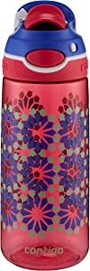 Contigo AUTOSPOUT Chug Kids Water Bottle, 20 oz., Sprinkles Jelly with Flowers
