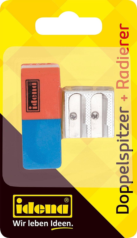 Idena 522073 Radierer und Anspitzer Set 2 teilig