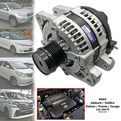 Amazon com: 100A Alternator For Toyota Estima Tarago GSR50 Alphard