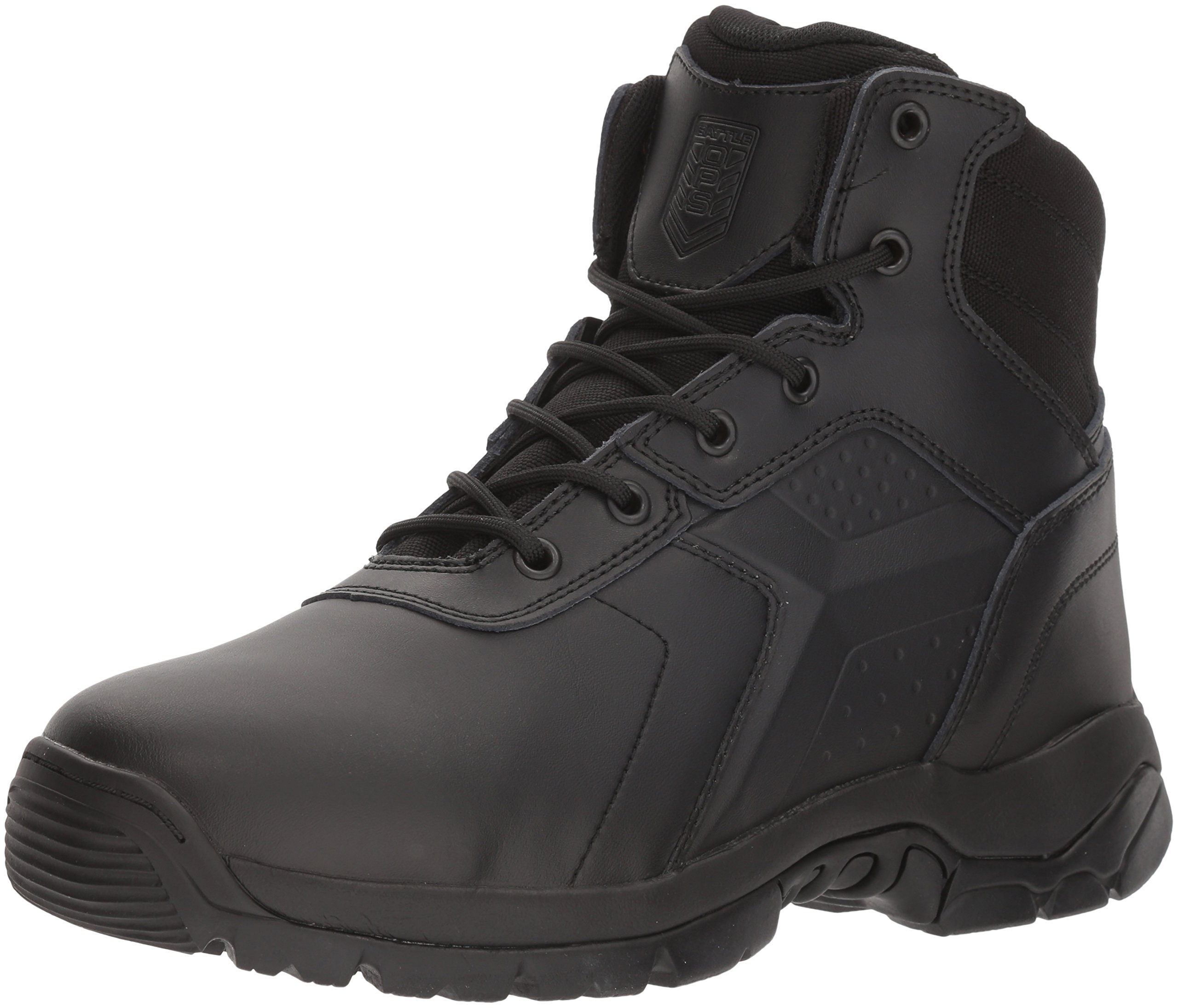 Battle Ops Men's 6 inch Waterproof Soft Toe BOPS6001 Military and Tactical Boot, Black, 11.5 M/W Multi Fit Medium Wide US