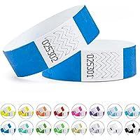 linie zwo®, Pack de 100 pulseras de seguridad Tyvek® 19 mm, varios colores
