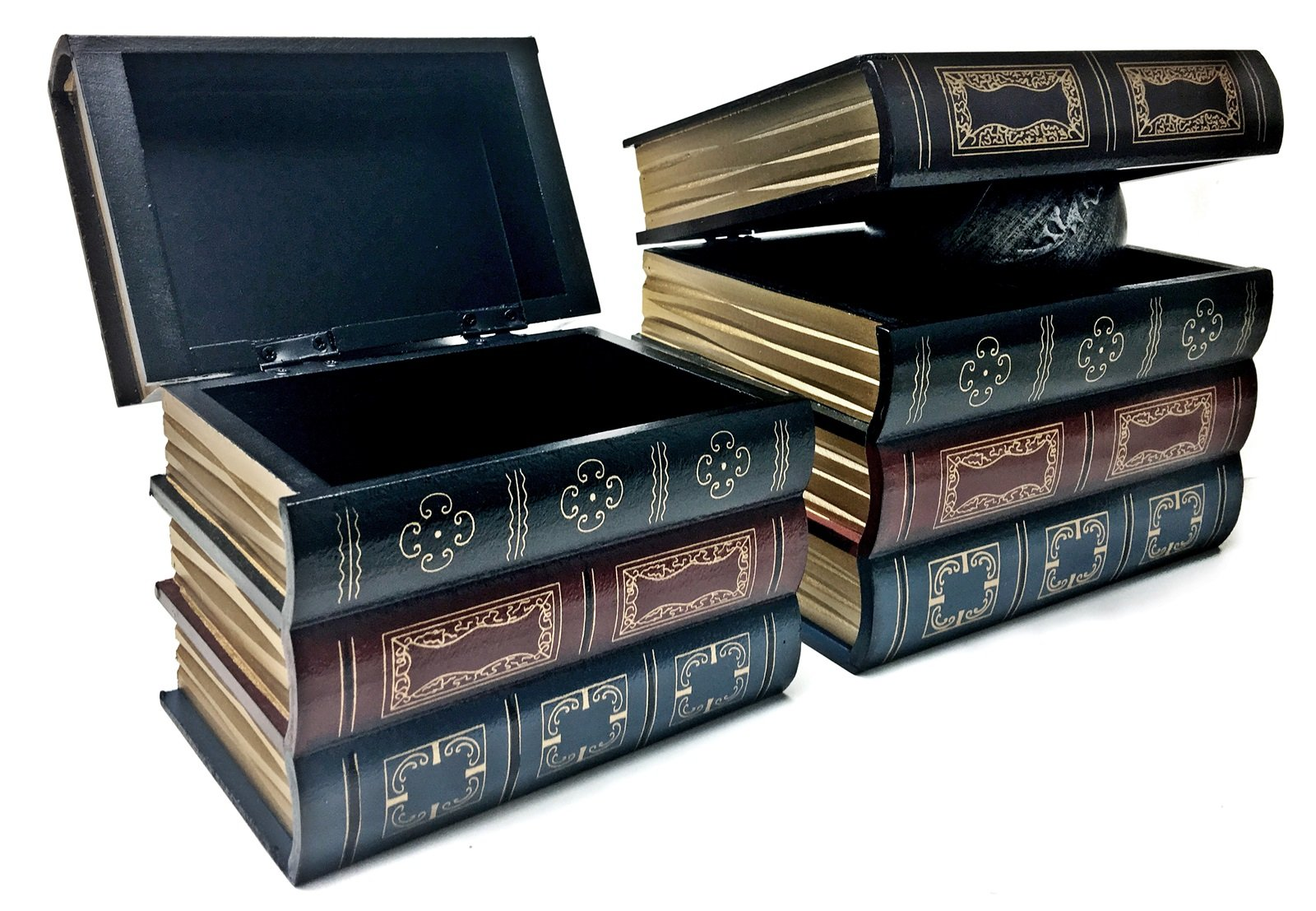 Bellaa 25419 Book Box Bookends w/Hidden Storage 2 pcs Set Library by Bellaa (Image #2)