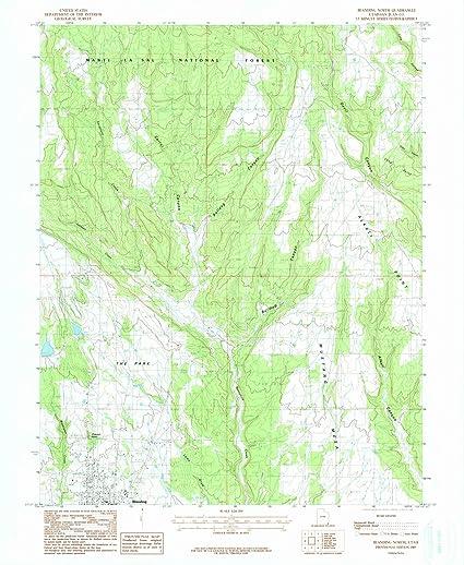 Amazon Com Utah Maps 1985 Blanding North Ut Usgs Historical