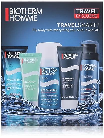 Biotherm Homme Travel Smart Lote Desodorante Anti-Transpirante + Espuma de Afeitar + Gel Limpiador