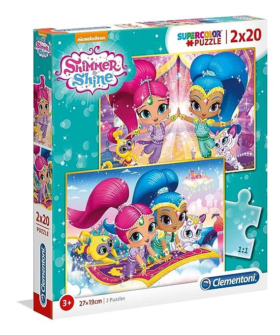 65754738c0 Clementoni 07028 SHIMMER SHINE PUZZEL 2X20 - V: Amazon.co.uk: Toys & Games